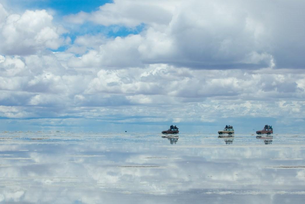 Bolivia- jeep nel salar de Uyuni