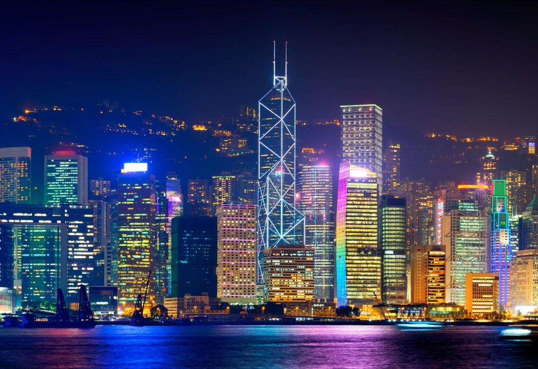Hong kong, cosa vedere: panorama notturno da Tsim Sha Tsui