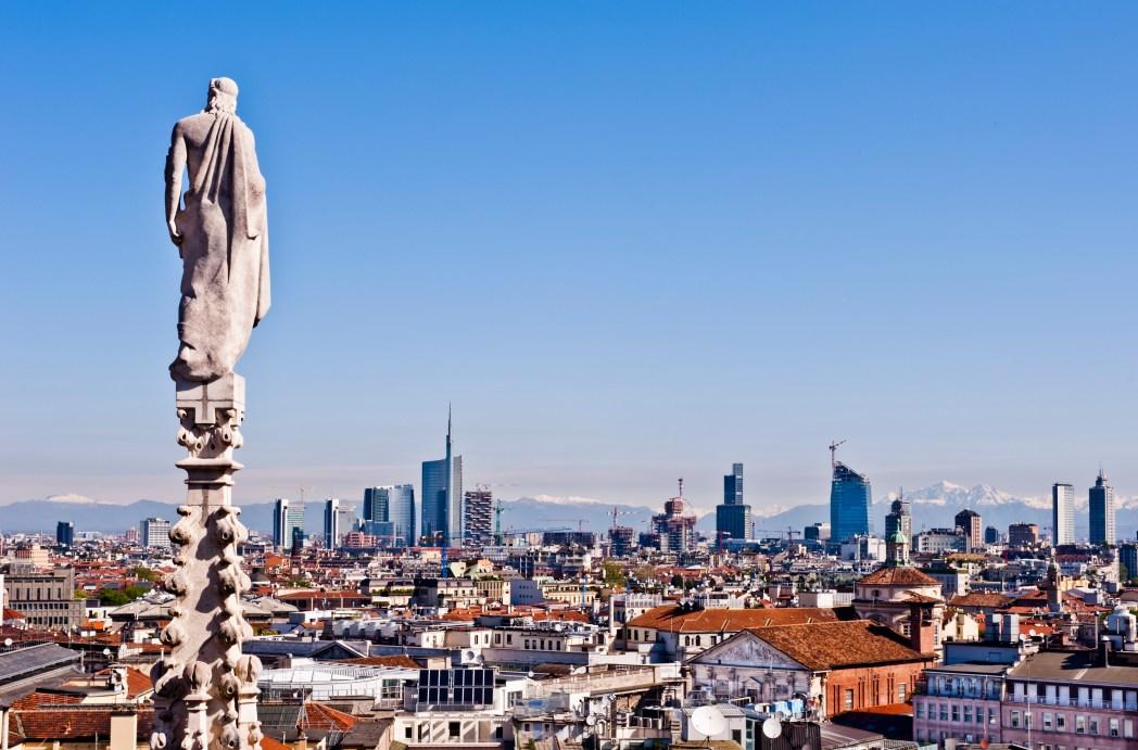 Quartieri di Milano - vista panoramica dal tetto del duomo