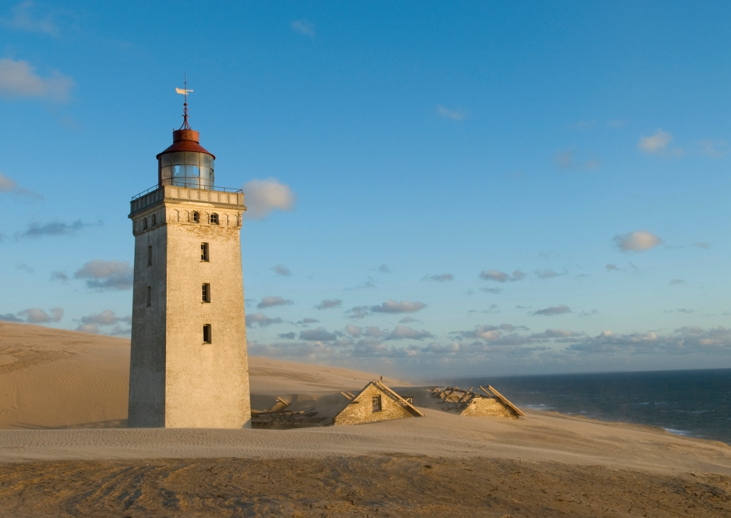 Faro de Rubjerg Knude en Dinamarca
