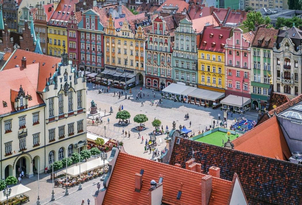 Wroclaw, veduta della città