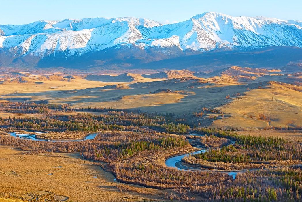 Paesaggio della Siberia