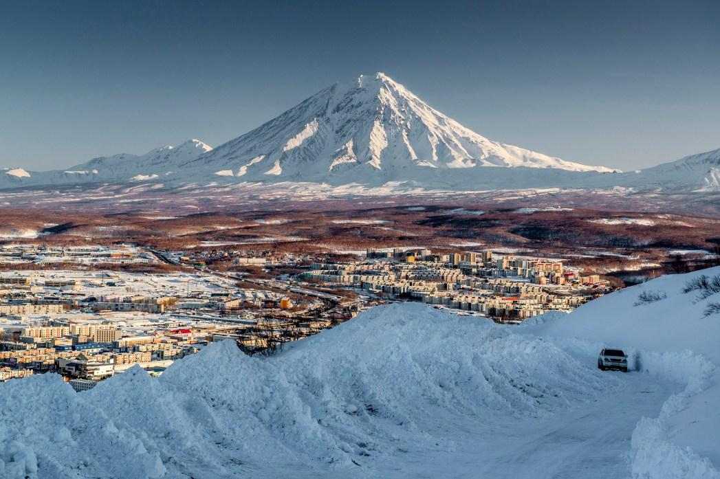 Un vulcano della Kamchatka
