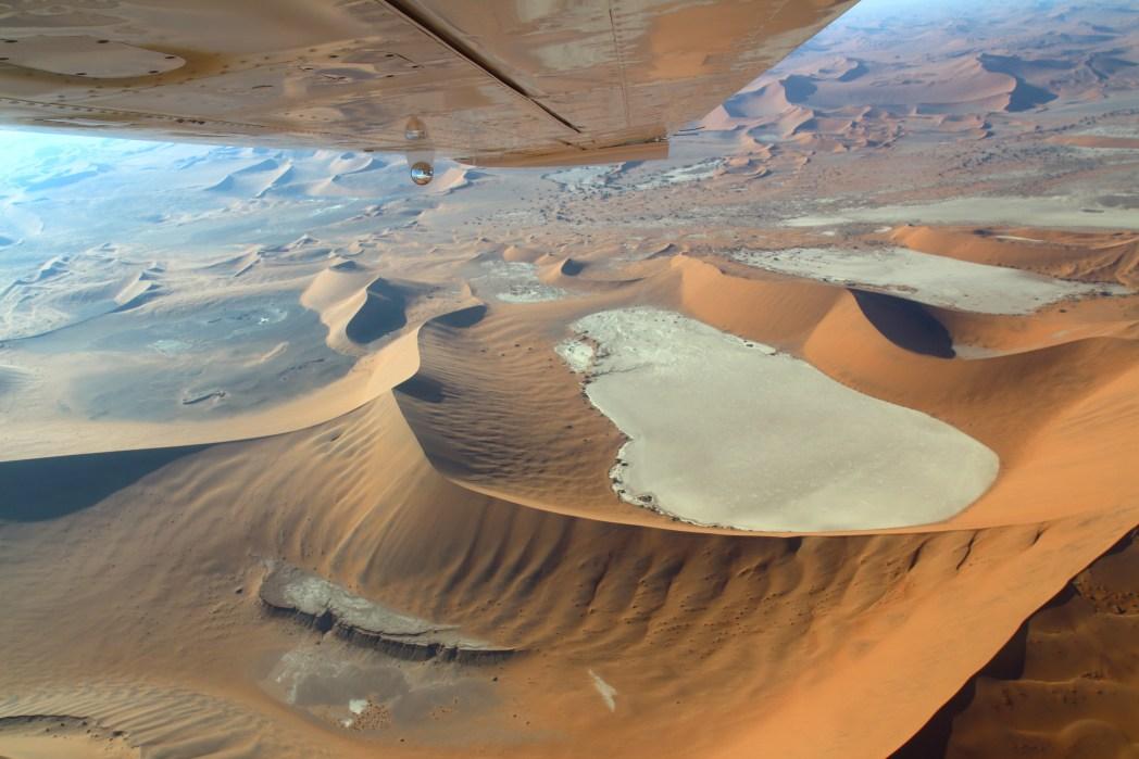 Namibia- vista aerea del deserto del Namib