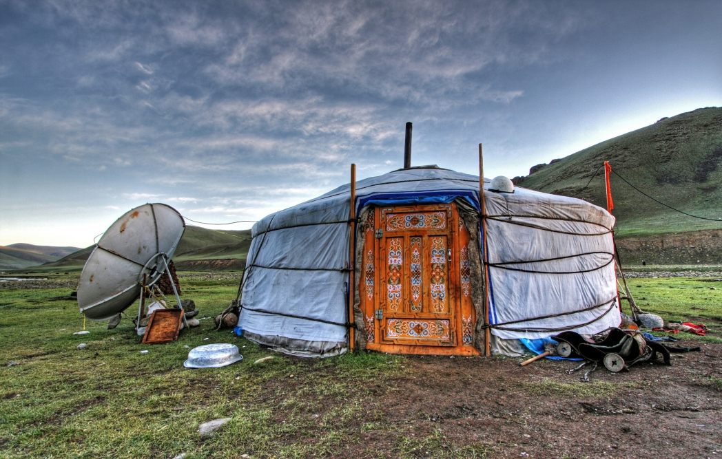 Una gher mongola nel Deserto del Gobi