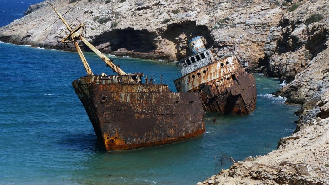 Amorgos, cosa vedere: nave affondata