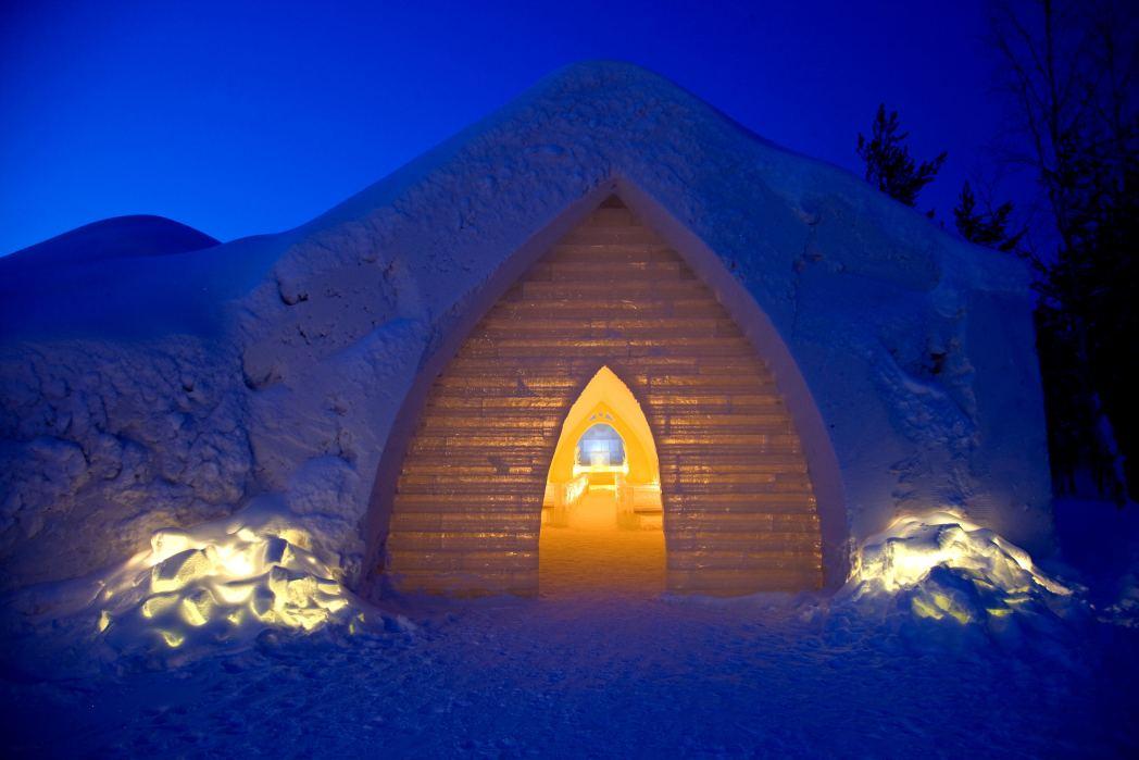 Viaggio in Lapponia: Artic Resort Kakslauttanen, cappella