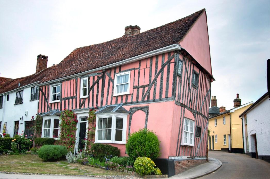 vista di una delle case del villaggio di Lavenham