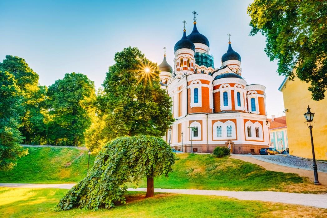 Vista della Cattedrale Aleksandr Nevskij