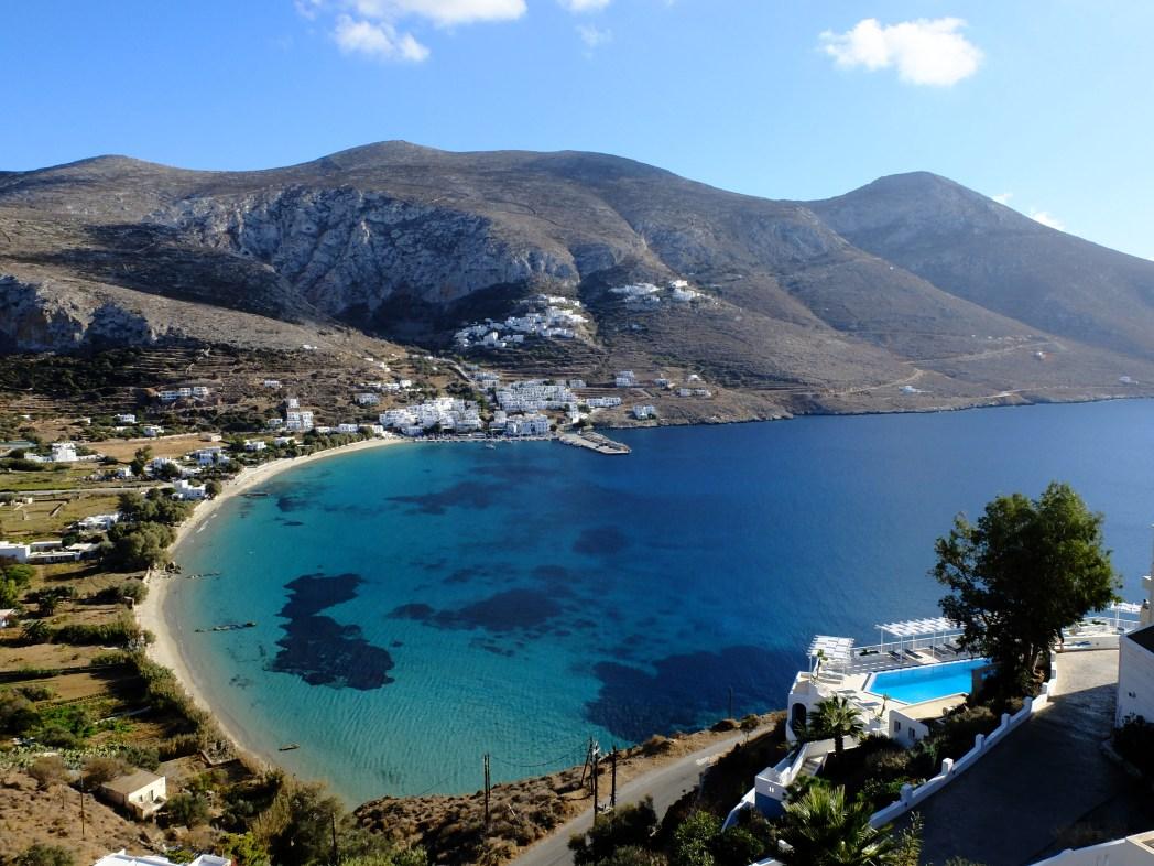 Viaggio ad Amorgos, spiaggia di aegiali