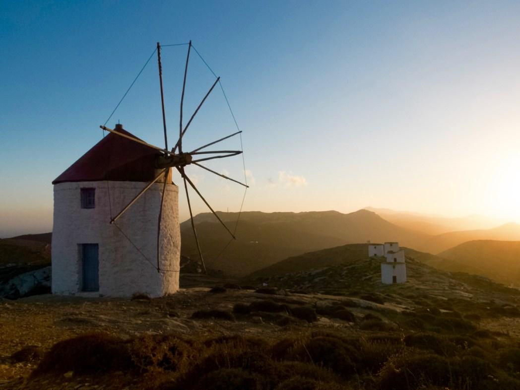 Grecia, Amorgos - tramonto dai mulini di Chora