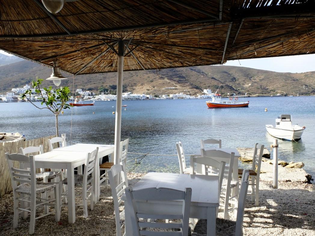 Viaggio ad Amorgos - taverna di pesce a Katapola