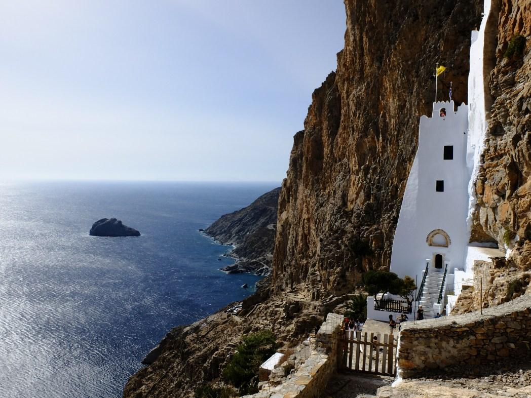 Viaggio nelle Cicladi, Amorgos, monastero di Panagia Chozoviotissa