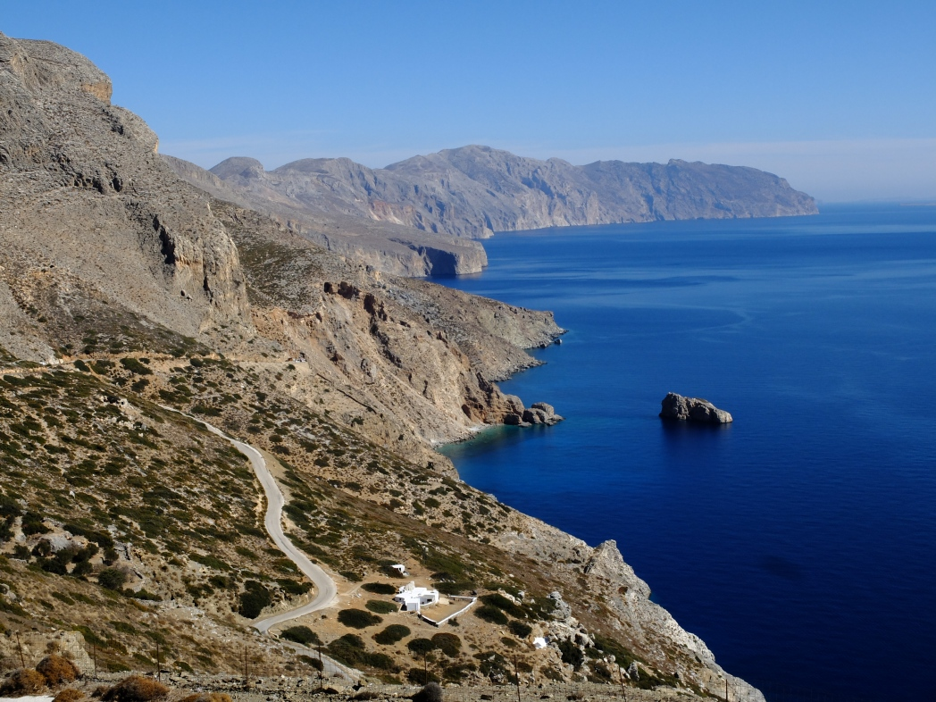 Amorgos, cosa vedere - panorama della costa orientale