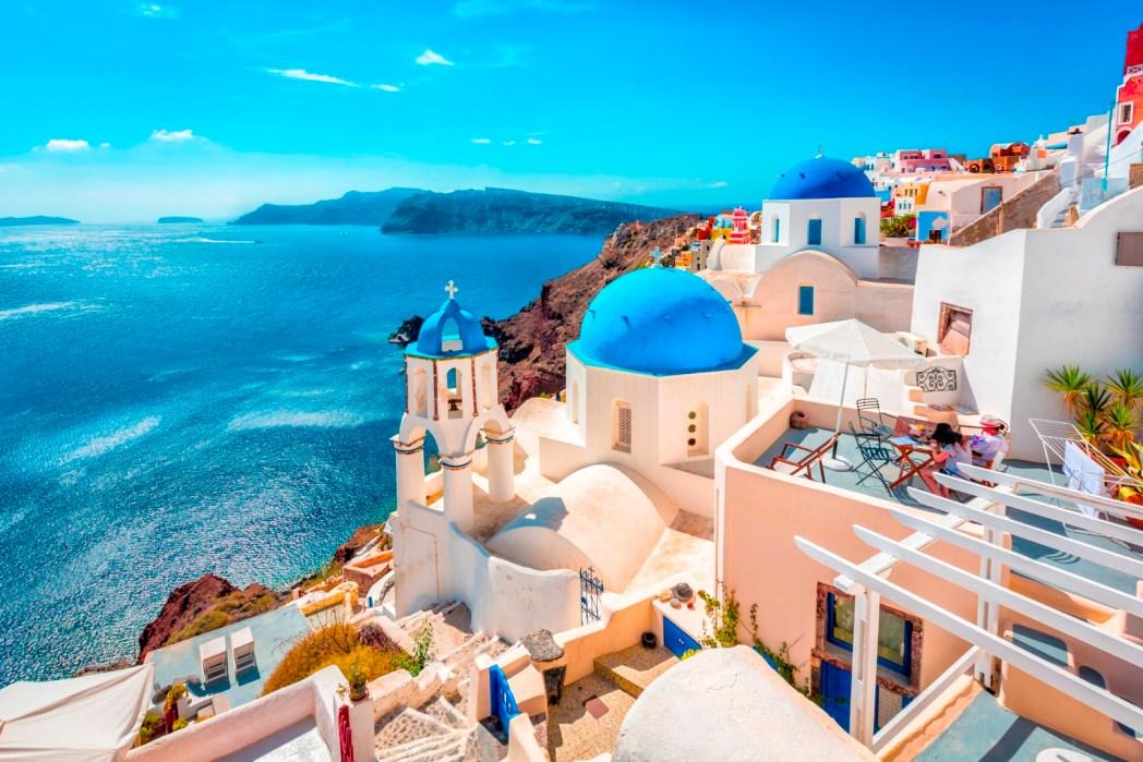 Uno scorcio di Santorini