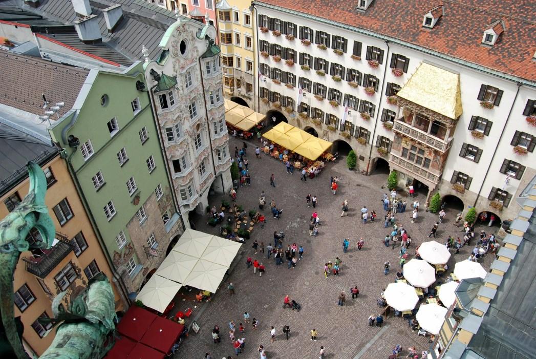 Innsbruck, cosa vedere - vista dalla Torre Civica