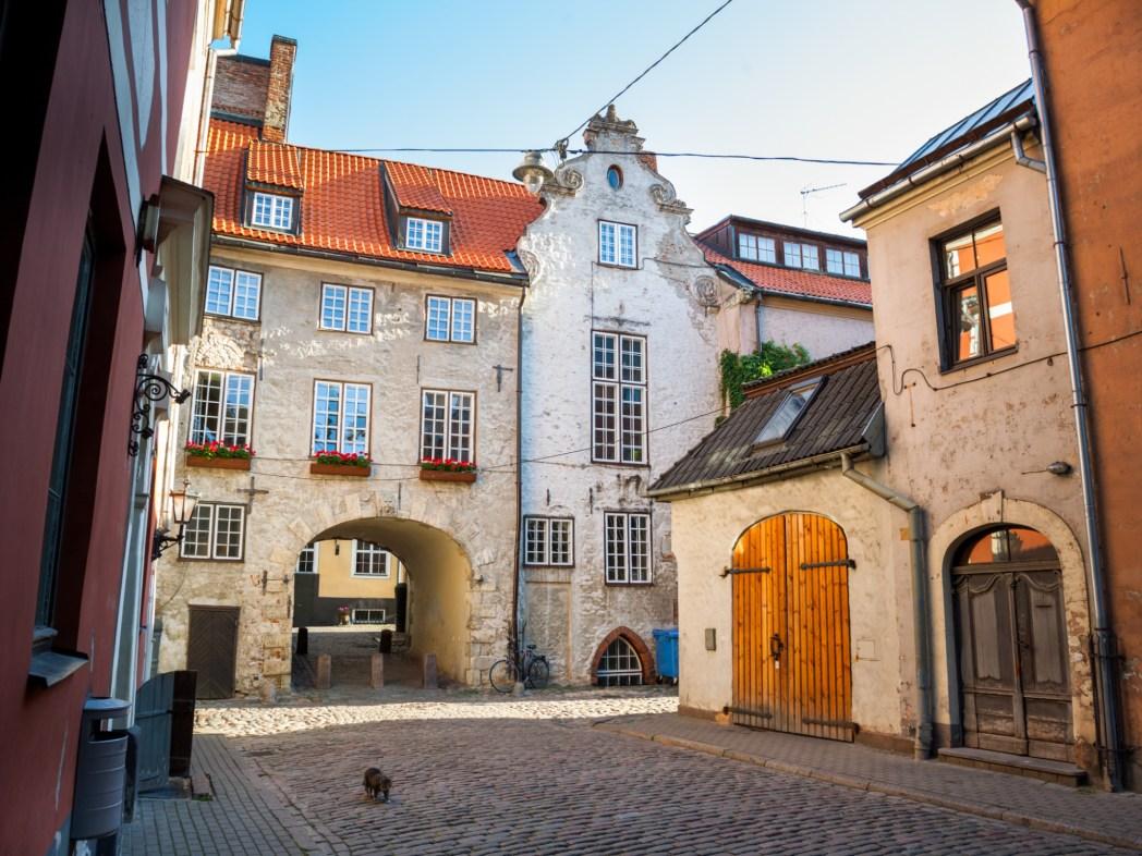 Ingresso della Porta Svedese di Riga