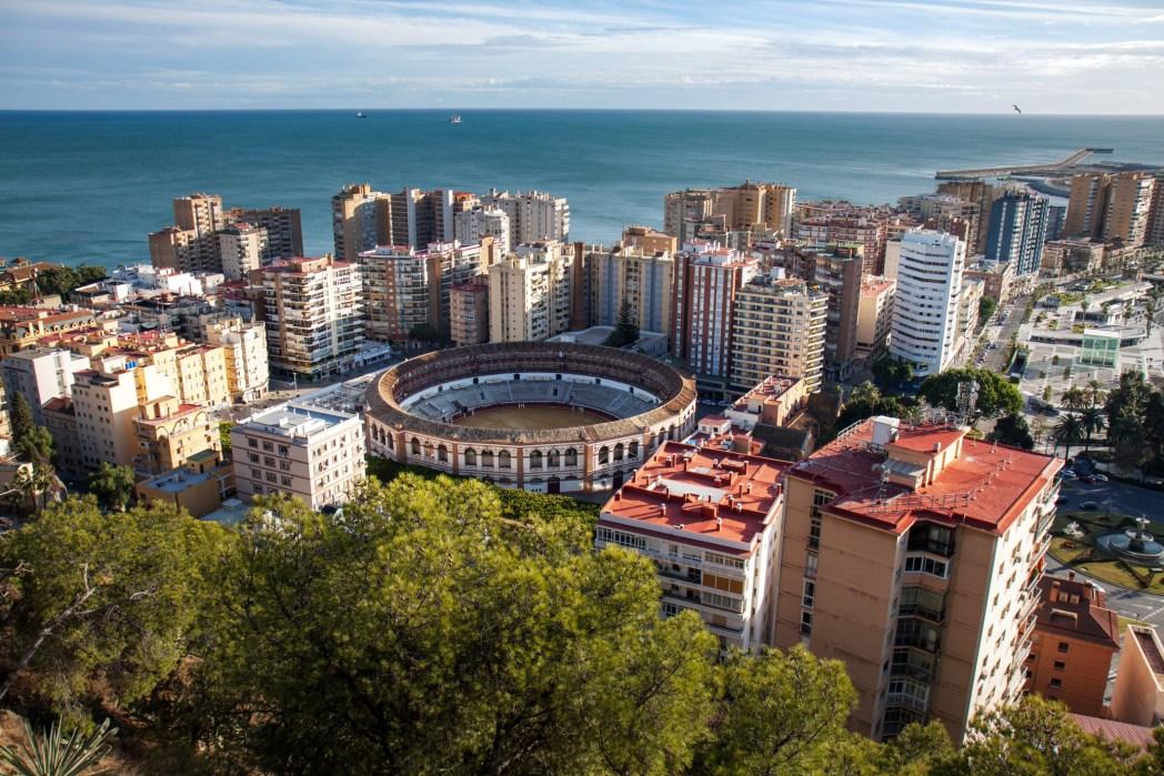 Vista su Malaga