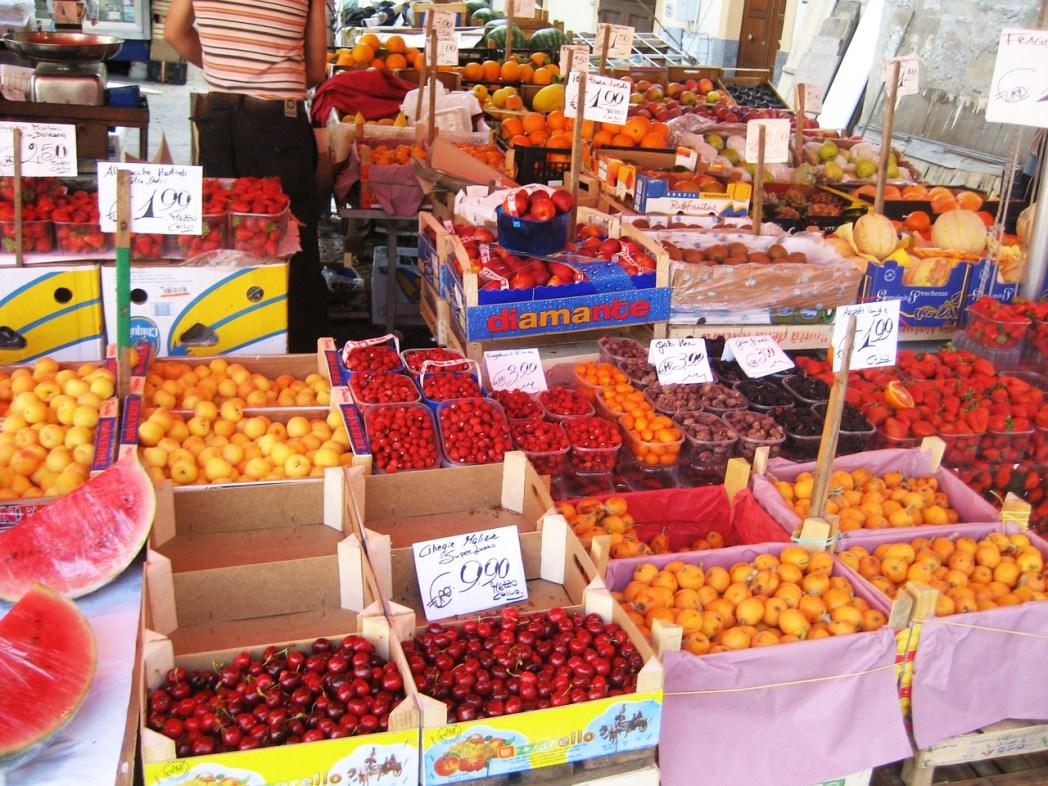 Quartieri di Palermo: Prodotti al mercato