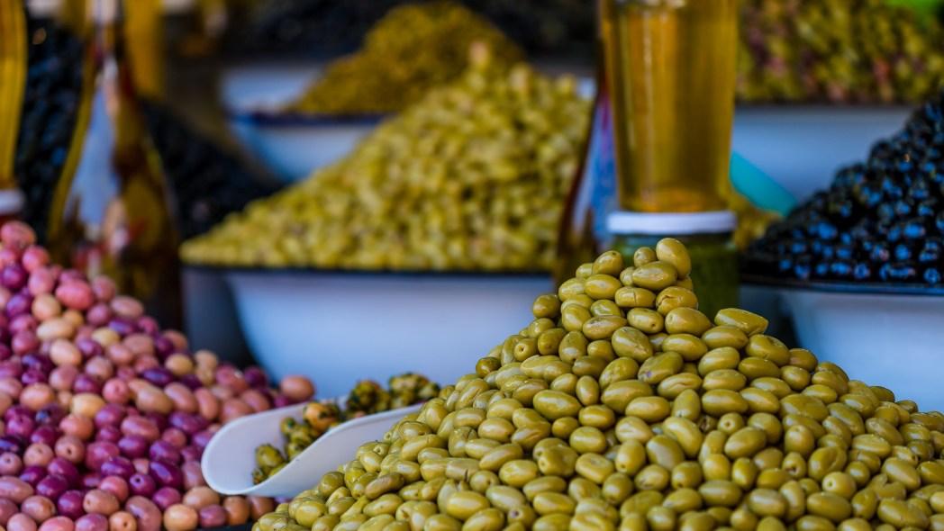 Marrakech, prodotti del mercato