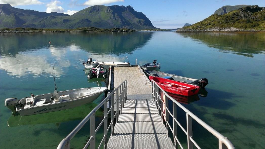 Barche alle Isole Lofoten
