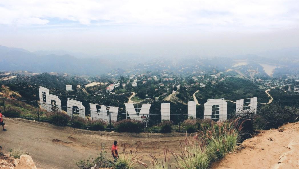 La scritta Hollywood