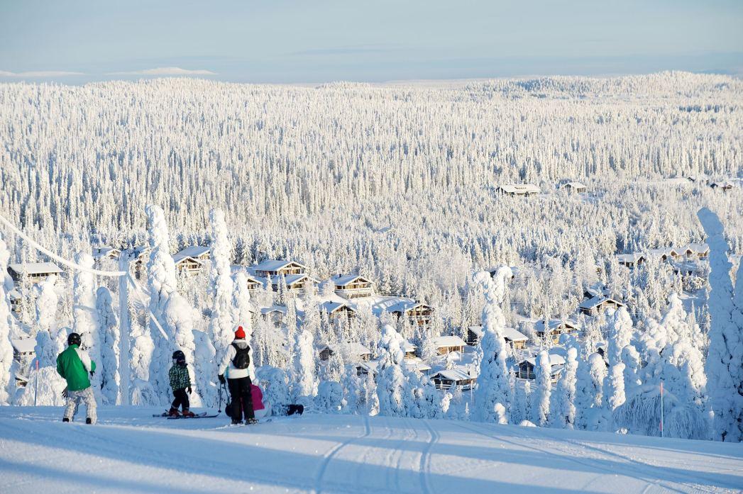 Viaggio in Lapponia: Piste da sci, Ruka