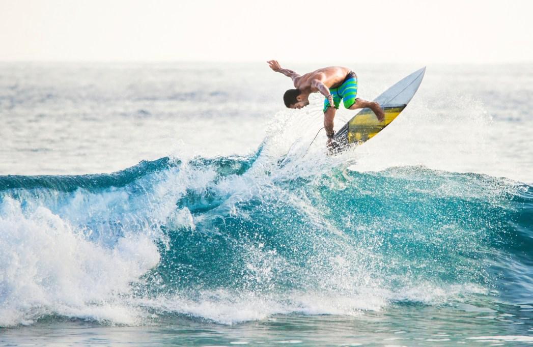 surfista in azione