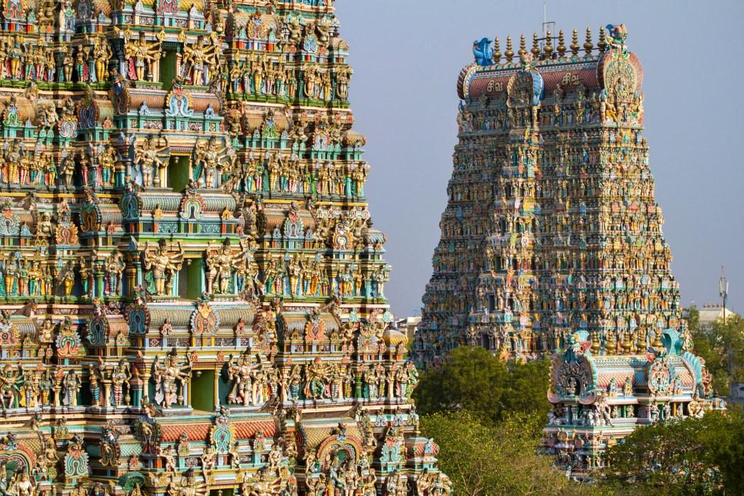 Vista del tempio di Meenakshi a mandurai